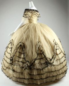 Amazing Ball Gown, c. 1854