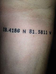 Coordinates of Walt Disney World.
