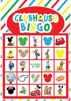 Mickey Mouse Clubhouse Bingo Printable Game