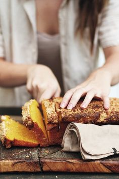 Good: I like the concept of the food being in action- having a person in the… - Breadwinner Bakery food styling for photo shoot - Brunch, Pumpkin Bread, Food Blogs, Food Styling, Food Inspiration, Sweet Tooth, Food Photography, Food Porn, Good Food