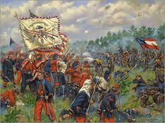 "In May 1861 a close personal friend of President Lincoln, Colonel Elmer Elsworth, formed the 11th New York Infantry. Many of the men assigned to the 11th were former Fire Fighters and the unit became known as the ""Fire Zouaves"". They would see little combat but the combat they would see would be as intense as it comes.  1st Mannassas, July 21, 1861."