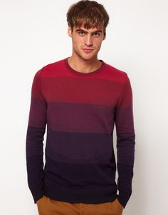7b9b8fa11a7b Men's Purple Jumper with Multi Stripe. Purple JumpersRiver Island ...