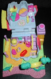 1994 - Polly Pocket Light-up Kitty House Animal Wonderland Collection  Cat Mews House Bluebird Ref. No. 951681  Polly Pocket Light-up Kitty House Mattel 13861