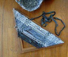 denim weaving #diy