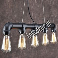 Steamlight steammpunk edison pipe lamp steigerbuis