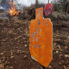 Rogue Targets - Steel Silhouette target with reactive hostage paddle