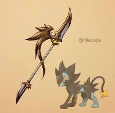Pokeapon-Luxray. since this is my favorite pokemon ever, we shall ride into battle and wreck ery'thing