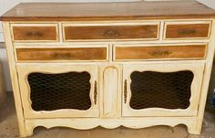 Refinished dresser made into a buffet