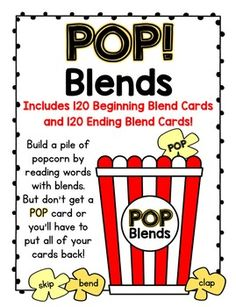 A Sight Words Popcorn Card Game - Contains all 220 Dolch Sight Words! Cvce Words, Dolch Sight Words, Sight Word Games, Reading Words, Addition Facts, Word Building, Uppercase And Lowercase Letters, Word Work, Lower Case Letters