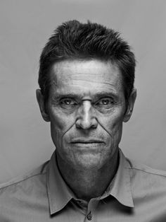 Cinema Fotos ✔ Willem Dafoe by Nicolas Guérin. Willem Dafoe, Portrait Photography Men, Face Expressions, Celebrity Portraits, Black And White Portraits, Poses, Interesting Faces, Portrait Inspiration, Male Face