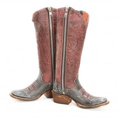 BootDaddy Collection with Dan Post Distressed Black Floral Cowgirl Boots