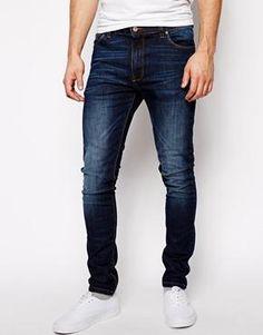 ASOS Super Skinny Jeans In Blue Wash