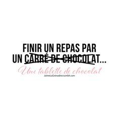 Finir un repas par un carré de chocolat… Une tablette de chocolat  - #JaimeLaGrenadine