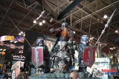 New Zealand-based Weta Workshop is renowned for its movie props, and the company brought a dizzying array of props and figures to its New York Comic Con 2015 booth. Hill Dwarf, Middle Earth, Lord Of The Rings, Tolkien, Lotr, The Hobbit, Iron, The Incredibles, Cosplay