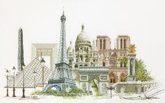 Borduurpakket Parijs (Aida) - Thea Gouverneur - Borduren