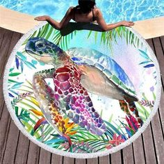The Original Tropical Sea Turtle Round Beach Towel Tropical Beach Houses, Tropical Beaches, War Photography, Types Of Photography, Hippie Beach, Famous Places In France, Mandala, Tropical Style, Vestidos