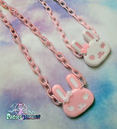 Cute bunny necklace Pastel Goth Soft Grunge by PastelDreamShoes