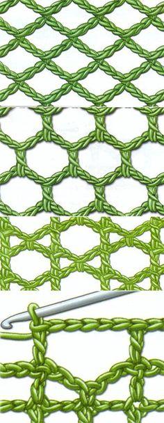 Fillet knitting a lesson 6 - a grid // Emilia Gaisan Form Crochet, Crochet Diagram, Crochet Chart, Crochet Squares, Crochet Motif, Crochet Doilies, Crochet Lace, Punto Red Crochet, Filet Crochet