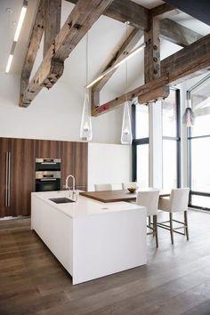 Decoraciones con vigas de madera en el techo                                                                                                                                                     Más