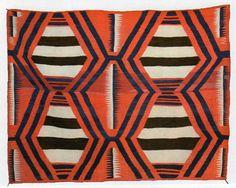 Navajo Third Phase Chiefs Blanket with Ravelled Bayeta and Indigo, via Western Art Collector magazine Native American Blanket, Native American Rugs, Textiles, Textile Patterns, Navajo Weaving, Navajo Rugs, Indian Blankets, Folk, Native Design