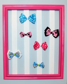 DIY Bow Frame... Much easier than the tutu bow holder!