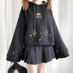 kawaii clothes Kawaii Girl Space Travel H - clothes Edgy Outfits, Teen Fashion Outfits, Mode Outfits, Cute Casual Outfits, Pretty Outfits, Girl Fashion, Fashion Clothes, Fashion Design, Cute Fashion Style