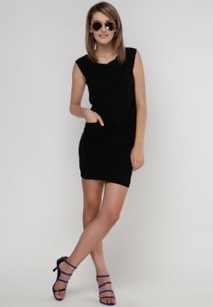 Are you coveting for a little black dress this season? From the fashion house of Elle, this ultra-glamourous LBD is a modern take on sophistication and class. Wear this and add a dramatic flair to your wardrobe.
