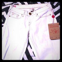 0f5c57514 True Religion White Shannon Style 26 in Denim Jeans