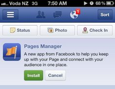 """Facebook rolling out new """"Pages Manager"""" app for iPhone"""