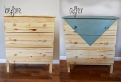 Before and After: Geometric Dresser Upcycle with General Finishes Paint