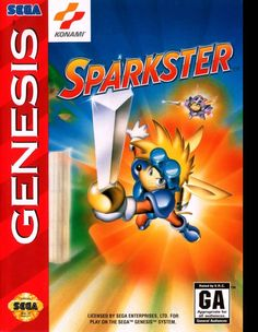 Sparkster: Rocket Knight Adventures 2 for the Genesis