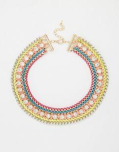 Image 1 ofLove Rocks Festival Bright Choker Necklace