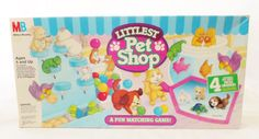 Vintage Littlest Pet Shop Board Game, 1993 Milton Bradley, Kenner Products, A Fun Matching Game~~