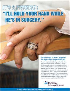 Provena St. Mary's Hospital Campaign by Pam Chozen, via Behance