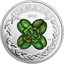 Royal Canadian Mint New The Lucky Four Leaf Clover Pure Silver Coloured Coin + Celebration of Spring: Apple Blossoms Pure Silver Coloured Coin