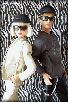 Barbie Basic & Harley Davidson Ken by vikk007, via Flickr