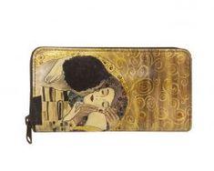 Ručne maľovaná peňaženka 8606 inšpirovaná motívom Gustav Klimt Gustav Klimt