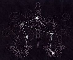 Ecliptic Constellations - Libra | Urban Threads: Unique and Awesome Embroidery Designs