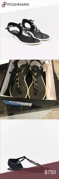 Beautiful chanel sandals retailed over $1000!!!! Beautiful chanel sandals they are available in the new chanel collection get it while they last!!! Retailed over $1000 worn only few times, picture does no justice!!! CHANEL Shoes Sandals