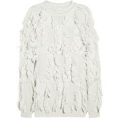 3.1 Phillip Lim Fringed wool-blend sweater via Polyvore