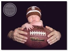 Lil Football Baby Hat Beanie            by ForStitchesSake