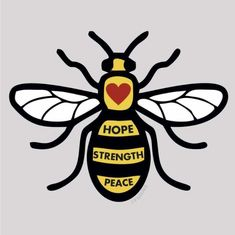 Bee Tattoo Manchester, Manchester Attack, Manchester Art, Bee Rocks, 3d Pen, Bee Art, Bee Design, Save The Bees, Tattoos