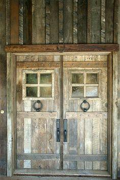 Reclaimed wood doors. Love these doors                                                                                                                                                                                 More