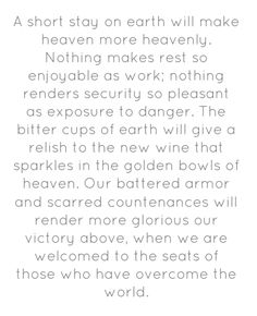 Amen - from one of my fav's, C.H. Spurgeon.