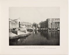 Souvenir book of the Louisiana Purchase Exposition - Page [17]: Looking east across the Grand Basin [photographic illustration]