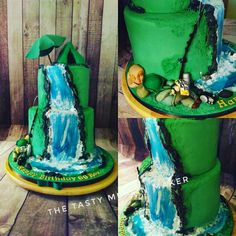 Fishing cake for a 60th birthday, at Clement's flavour