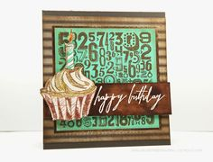 I have been having so much fun playing with the new Tim Holtz stamps and Cracked Pistachio Distress products. I loved matching this color with the other Distress colors to see which combinations work best. This Cracked Pistachio and Vintage...