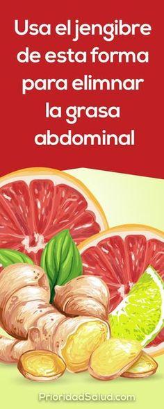 Usa de esta forma el jengibre para bajar de peso y eliminar la grasa abdominal saludablemente.