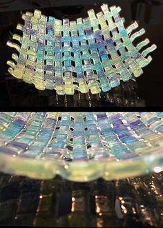 Woven Glass Basket