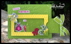 Pink Buckaroo Designs: Facebook Friday (on Thursday)- Wiggle Worms Fun Fold Cards, Folded Cards, Birthday Cards, Happy Birthday, Slider Cards, Bird Cards, Stamping Up, Worms, Stampin Up Cards